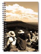 Hawk Mountain In Sepia Spiral Notebook