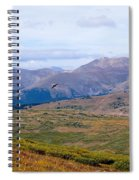 Hawk Soaring Over Guanella Pass In The Arapahoe National Forest Spiral Notebook
