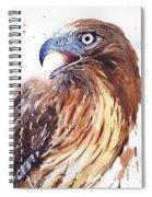Hawk Watercolor Spiral Notebook