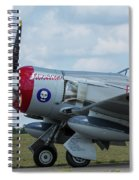 Hawker Sea Fury Fb-11 Airplane 5 Spiral Notebook