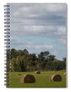 Hay Bale Pano Spiral Notebook