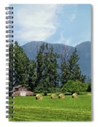 Hay Bales And A Barn - Kalispell Montana Spiral Notebook