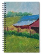 Hay Bales In Morning Light Spiral Notebook