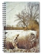 Hay Bales In Snow Spiral Notebook