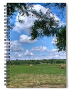 Hay Field In Summertime Spiral Notebook