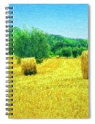 Hay Harvest In Tuscany Spiral Notebook