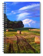 Hay Rolls On The Farm By Christopher Shellhammer Spiral Notebook