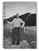 Haymaker With Pitchfork B W Spiral Notebook