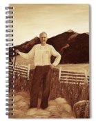 Haymaker With Pitchfork Vintage Spiral Notebook