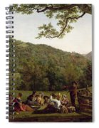 Haymakers Picnicking In A Field Spiral Notebook