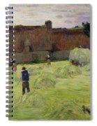 Haymaking In Brittany Spiral Notebook
