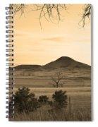 Haystack Mountain - Boulder County Colorado - Sepia Evening Spiral Notebook