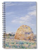 Haystack On The Banks Of The Loing Spiral Notebook