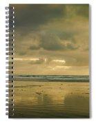 Haystack Sunset Panorama Spiral Notebook