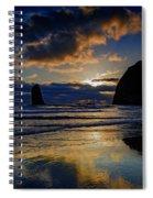 Haystack Sunset Spiral Notebook