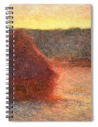 Haystacks At Sunset Spiral Notebook