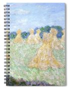 Haystacks The Young Ladies Of Giverny Sun Effect Spiral Notebook