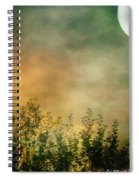 Haze On Moonlit Meadow Spiral Notebook