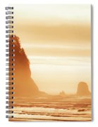 Hazy Beach  Spiral Notebook