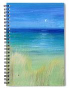 Hazy Beach Mini Oil On Masonite Spiral Notebook