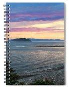 Hazy Evening Sunset Spiral Notebook