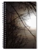 Hazy Moon Through The Trees Spiral Notebook