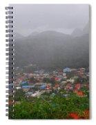 Hazy Pitons Spiral Notebook