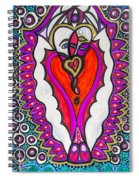 He She Heart Spiral Notebook
