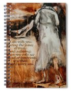 I Am With You - Footprints Spiral Notebook