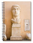 Head From The Statue Of Constantine, Rome, Italy Spiral Notebook