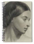 Head Of A Girl Spiral Notebook