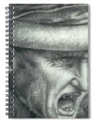 Head Of A Warrior, Copy Of A Detail From The Battle Of Anghiari Spiral Notebook