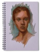 Head Of A Woman Study Spiral Notebook