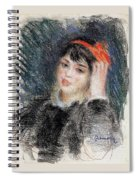 Head Of A Young Woman - 1878 -1880 Pierre-auguste Renoir Spiral Notebook