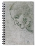 Head Of A Young Woman Or Head Of The Virgin Spiral Notebook