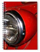 Headlamp On Antique Fire Engine Spiral Notebook