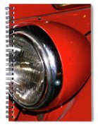 Headlamp On Red Firetruck Spiral Notebook