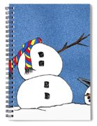 Headless Snowman Spiral Notebook