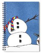 Headless Snowman Spiral Notebook