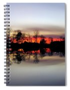 Hearns Pond Silhouette Spiral Notebook