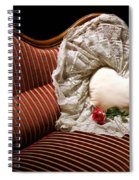 Heart And Rose Victorian Style Spiral Notebook
