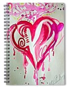 Heart Energy Spiral Notebook