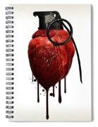 Heart Grenade Spiral Notebook