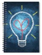 Heart In Light Bulb Spiral Notebook