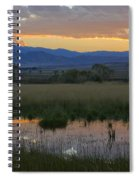 Heart Mountain Sunset Spiral Notebook