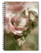 Heart Of A Rose - Antique Pink Spiral Notebook
