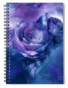 Heart Of A Rose - Lavender Blue Spiral Notebook