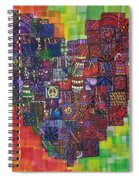 Heart Of Cherries Spiral Notebook