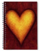 Heart Of Gold 4 Spiral Notebook