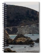 Heart Of The Bixby Bridge Spiral Notebook